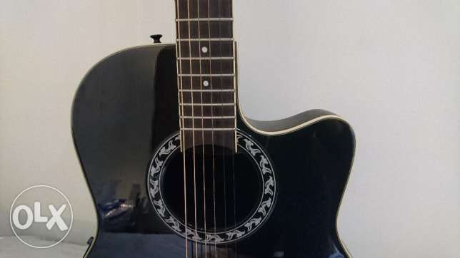 Acoustic Guitar, Ovation Applause, Black سن الفيل -  1