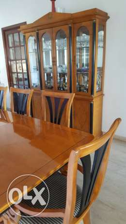 Dining table with chairs with closet