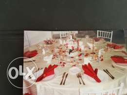 Round tables for weddings and events 180 cm and 150 cm