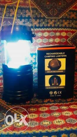 8led camping lantern + power bank inside