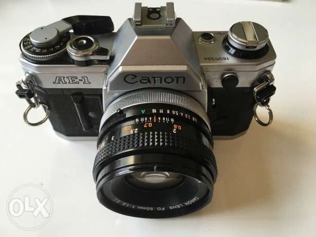 Canon AE-1 (Working) with Flash + 2 Lens + Travel Box + Filters