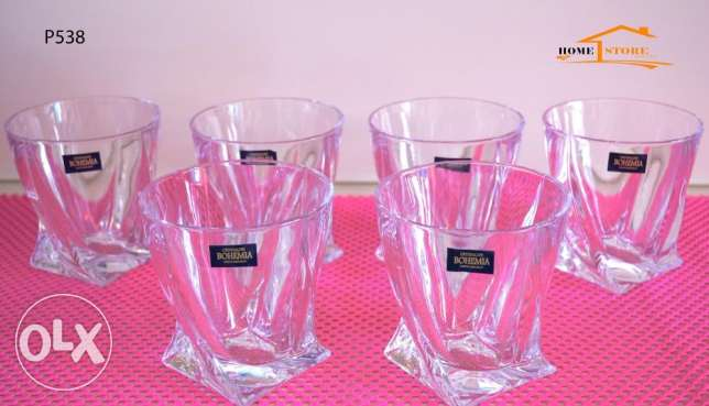 Half dozen of BOHEMIA cups crystal - New Arrivals