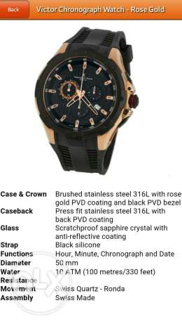 Victor chronograph watch - rose gold
