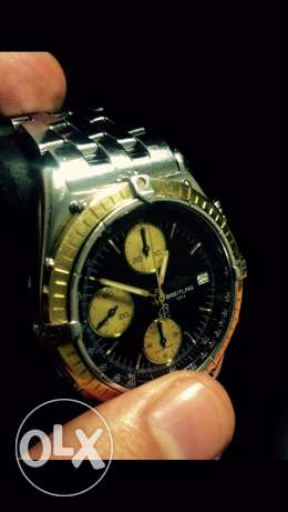 Breitling chronograph gold and steel
