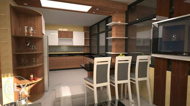 Wood interior design and construction