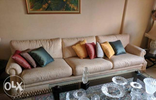 High end sofa with high end fabrics