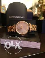 Gold plated genuine EA watch for women
