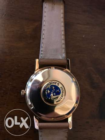 longine automatic rosegold vintage collectors watch