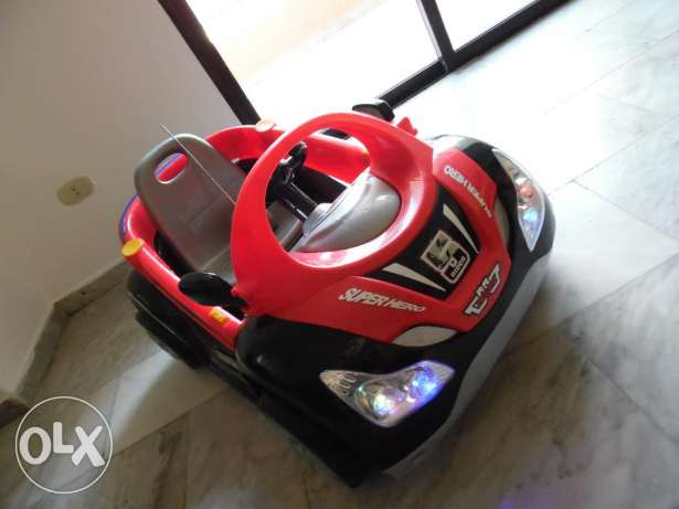 electric with remote controll baby car used from 6 months - 5 yeas