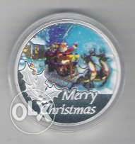 Merry Christmas Silver Plated Medal