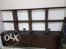 2 Shelves with lower Cabinet