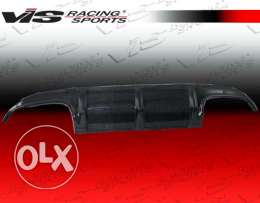 Diffuser for clk w209 black with front lip black matt with amg tips