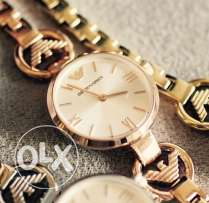 Authentic EA golden bracelet watch for her on valentine