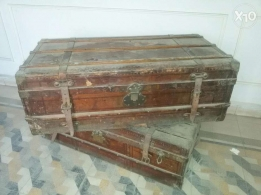 2 Old wooden suitcases