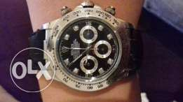 Rolex watch in a nice price silver and black