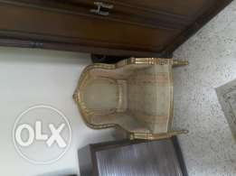 Furniture for sell (3 seater and two 1 seater sofa)