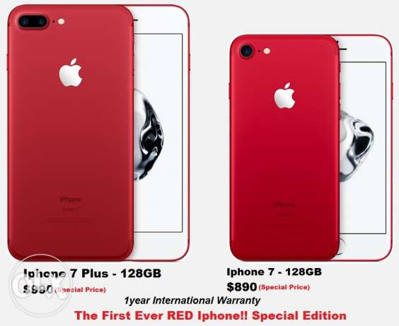 Special Edition RED IPhone 7 & 7 Plus