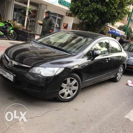 Honda civic 2007 Exi Lebanese origin low km for sale with a nice nmbr