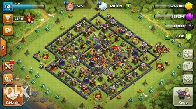 Clash of clan town hall 11