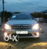 mercedes c300  4 matic model 2008 ajnabyi low milage  chechi kbiri ma3 dvd original look AMG silver
