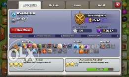 Clash of clans account th level 8 max for sale