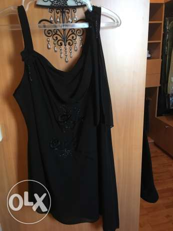 2 pcs black top and pant