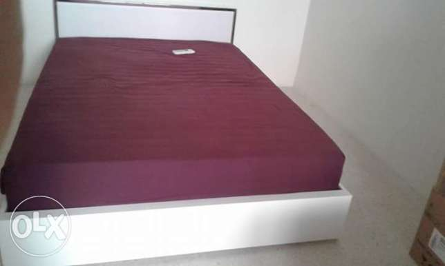 Double bed with mattress. Whats app available.