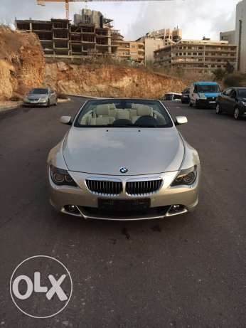 BMW 650i 2007 convertible like new الروشة -  1