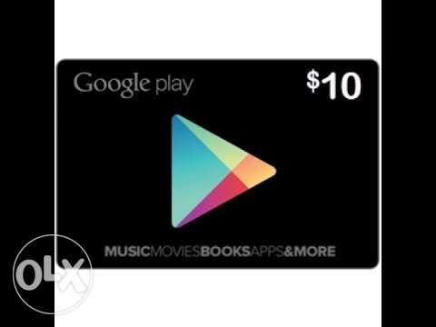 Recharge Card for Google Play 10$