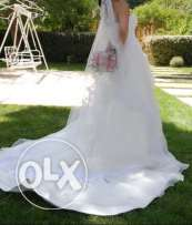 Off white wedding dress,