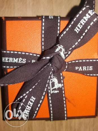 Hermes leather bracelet.