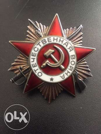 soviet order of the great patriotic war 2nd class silver and enamel