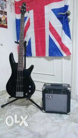 Ibanez Bass, Bass Stand And SX amp