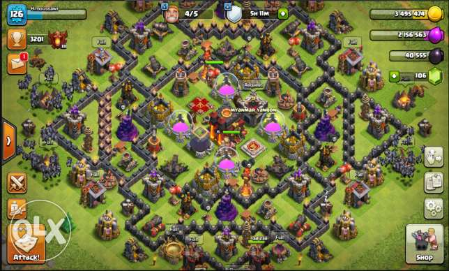 50Clash of Clans TownHall 10,