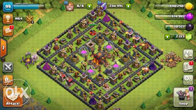 clash of clans great base