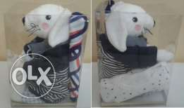 Baby Shower Gift for Boys (125 White Rabbit Box)