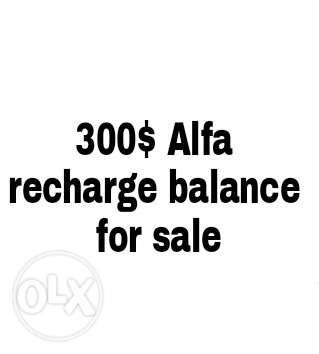 300$ alfa recharge for sale