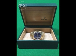 Rolex daydate yellow gold diamond blue