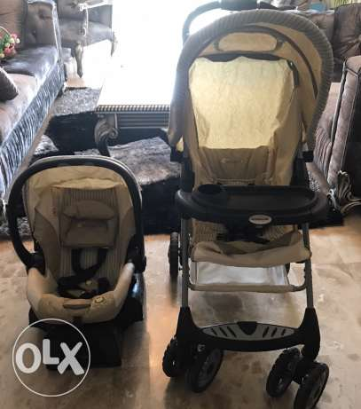 Two stroller and 2 car sets