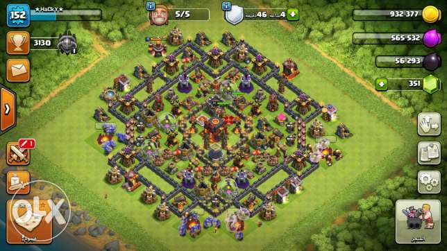 Clash of clans th10..for sal