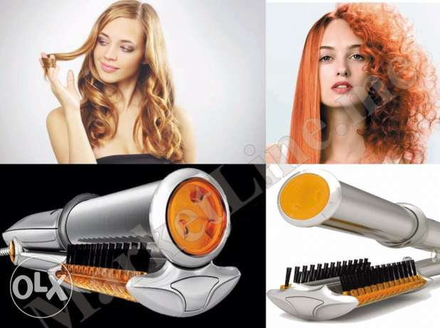 ceramic fair with brush to smooth & curl