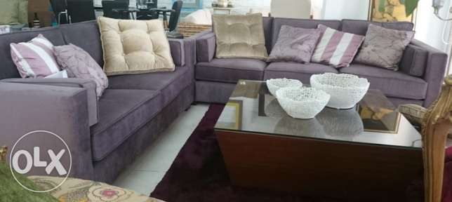 New sofa set for sale + coffee table