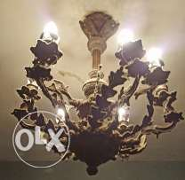 French late 18th Century Chandelier, needs cleaning.
