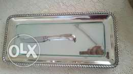 (Habees) silver plate with glass handmade, Imported from England فضة