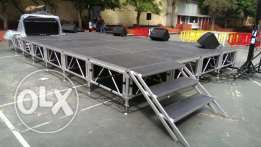 Stage Aluminium For Bands for rent