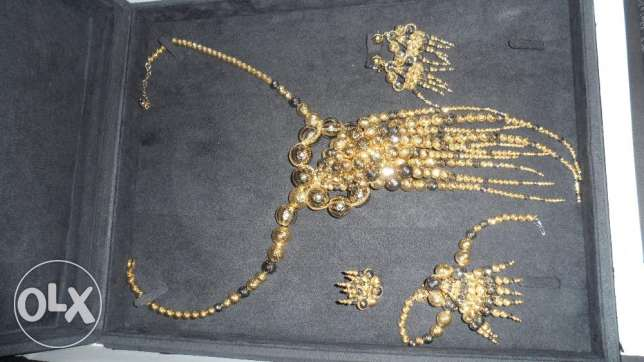 necklace octopus with bracelet /ring/earring gold 18 carat