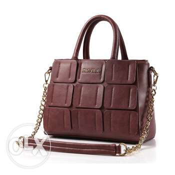 Leather shoulder handbag (2 pictures - 2 colors) (Free delivery)