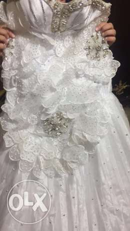 wedding dress excellent condition عرمون -  5