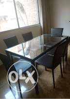 for sale dining table with 6 chairs in excellent condition