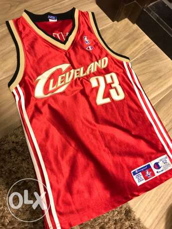 lebron james cleavland jersey(champion original) stiched not printed